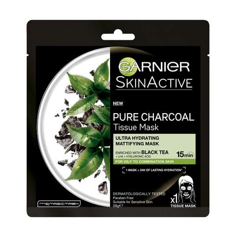 Garnier SkinActive Pure Charcoal Tissue Mask Black Tea