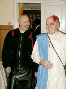 """Entering the Marriage Room at our """"wedding"""" in Hitchin on 21 December 2005"""