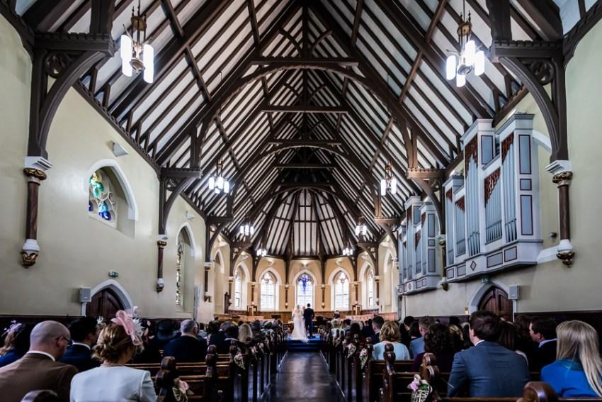 yorkshire wedding photographer - view inside St Peter's school chapel