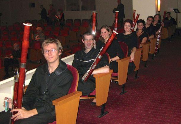 IU Bassoon Studio With Adam Romey, Stephen Duncan, Cornelia Sommer, Cathryn Gaylord, Cyrus Roat and Kathleen McLean.