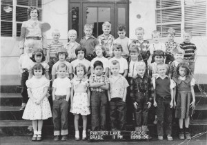 First grade class picture of Mrs. Koontz class in 1955-56