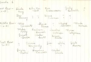 Names Grade 1