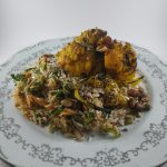 Cooking in Iso, Volume 2: Spiced burnt cauliflower with warm basmati salad