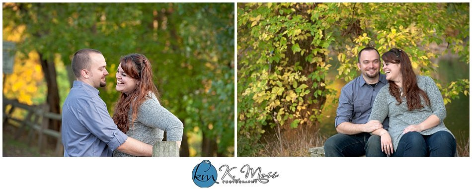 Wyomissing PA Outdoor Autumn Engagement Photos | K. Moss Photography