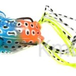 two hooks various color soft frog with hair tail whosale