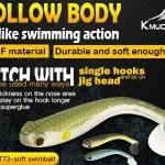 """Professional angler soft swimbait- Kmucutie let you """"Think like a fish."""""""