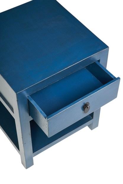 Comodino 1 Cassetto 1 Ripiano Blu Pacific KMV Home Store stocKMarket