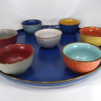 Coppetta Pinzimonio Gres Porcellanato Toscana Arancio Blu Giallo Grigio Bianco Turchese Rosso - KMV Home Store stocKMarket