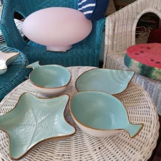 Piatto Conchiglia Stella Pesce Colorato Gres Porcellanato - KMV Home Store stocKMarket