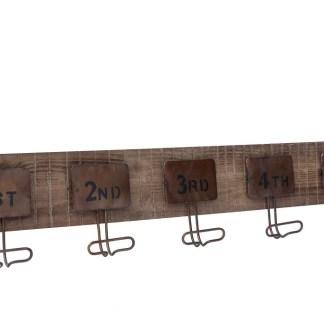 Appendiabiti Legno Metallo Targhe Numerate - KMV Home Store stocKMarket