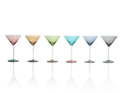 Calici Bicchieri Martini Vetro Colorato - KMV home store stockmarket