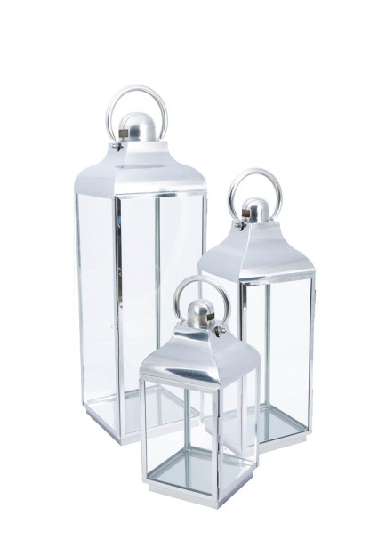 Lanterna Cupola Maniglia Acciaio Vetro - KMV Home Store stocKMarket