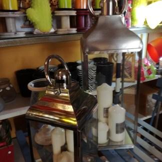 Lanterna Cupola Piccola Acciaio Vetro Maniglia - KMV Home Store stocKMarket