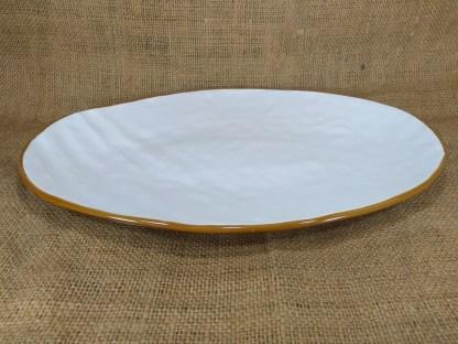 Piatto Portata Vassoio Ovale Bianco Toscana - Gres Porcellanato KMV Home Store stocKMarket