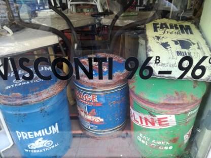 Sgabello Bidone Industrial Vintage - KMV Home Store stocKMarket