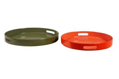 Vassoio Quadrato Tondo Colorato Resina Maniglia - KMV Home Store stocKMarket