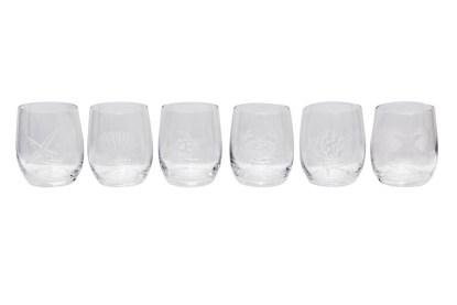 Bicchiere Vetro Cala Luna Acqua Trasparente Set 6 Motivo Mare Assortito Satinato - KMV Home Store stocKMarket