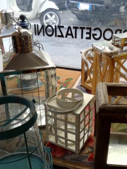 Lanterna Metallo Maniglia Vetro Antivento - KMV Home Store stocKMarket