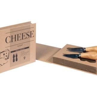 Set Formaggio 2 Coltelli Custodia Libro - KMV Home Store stocKMarket