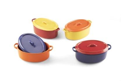 Terrina Ovale Grande Pentola Coperchio Forno Gres Porcellanato - KMV Home Store stocKMarket