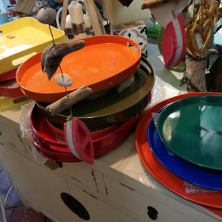Vassoio Ovale Medio Arancio Resina Maniglia - KMV Home Store stocKMarketVassoio Ovale Medio Arancio Resina Maniglia - KMV Home Store stocKMarket