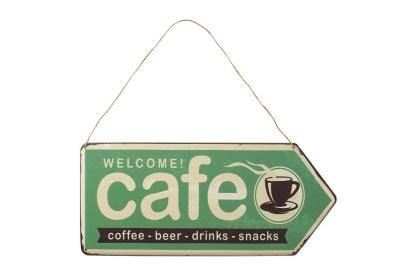 Insegna Targa Cartello Cafè Metallo Rilievo - KMV Home Store stocKMarket