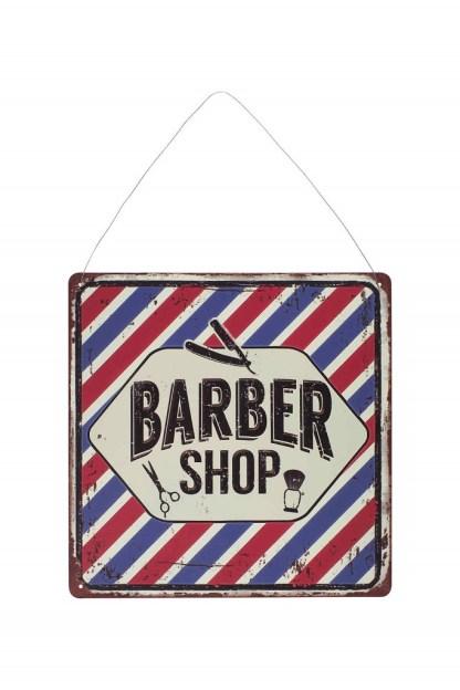Insegna Targa Cartello Quadro Barber Shop Metallo Rilievo - KMV Home Store stocKMarket