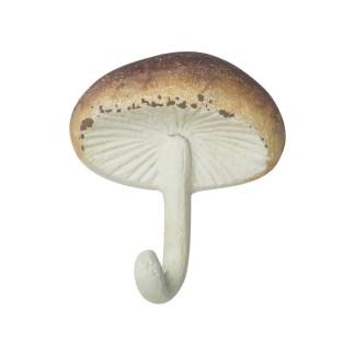 Appendiabiti Gancio Fungo Champignon Bianco Marrone Ghisa - KMV Home Store stocKMarket