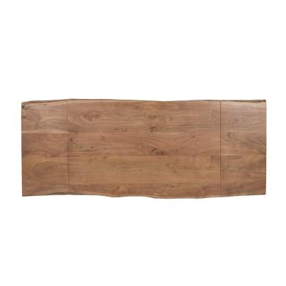 Tavolo Rettangolare Allungabile Prolunghe Maui Legno Massello Metallo - KMV Home Store stocKMarket
