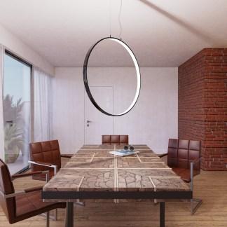Tavolo Rettangolare Eros Legno Massello Reused Metallo - KMV Home Store stocKMarket