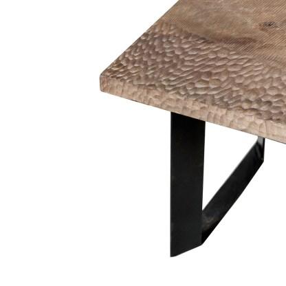 Tavolo Soggiorno Rettangolare Masai Naturale Legno Metallo - KMV Home Store stocKMarket