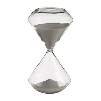 Clessidra Vetro Diamante 30 Minuti Sabbia Grigio - KMV Home Store stocKMarket