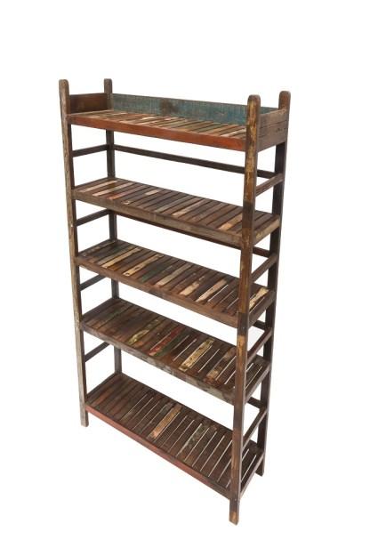 Libreria 5 Ripiani Originale Legno Reused - KMV Home Store stocKMarket