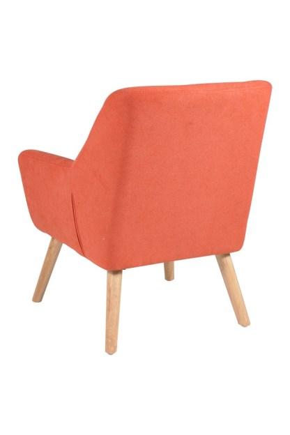 Poltrona Imbottita Braccioli Living Arancio - KMV Home Store stocKMarket