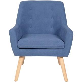 Poltrona Imbottita Braccioli Living Blue - KMV Home Store stocKMarket