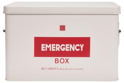 Emergency Box Scatola Medicinali Colorata Scomparti Vassoio Maniglie Vintage Retrò Metallo - KMV Home Store stocKMarket