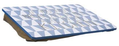 Vassoio Tavolino Cuscino Letto Divano Colazione Portacomputer Azzurro Bianco Oro - KMV Home Store stocKMarket
