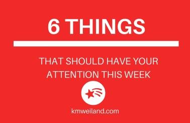6 Things I'm Eating, Using, Believing This Week
