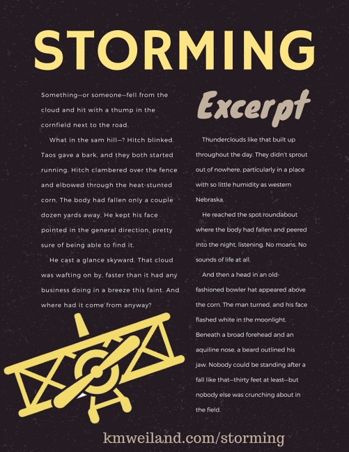 Excerpt from Storming A Dieselpunk Adventure by K.M. Weiland