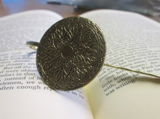 Metal Bronze Bookmark 1