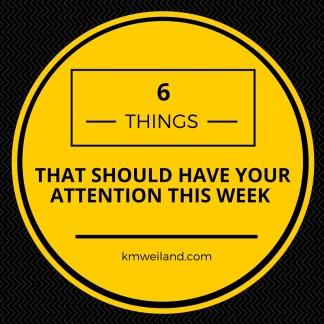 6 Things I'm Watching, Eating, Using This Week