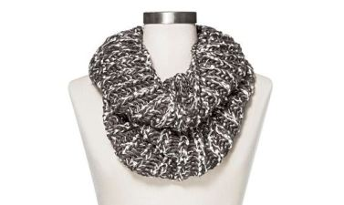 Mossimo Knit Infinity Snood Scarf With Shine Grey Target