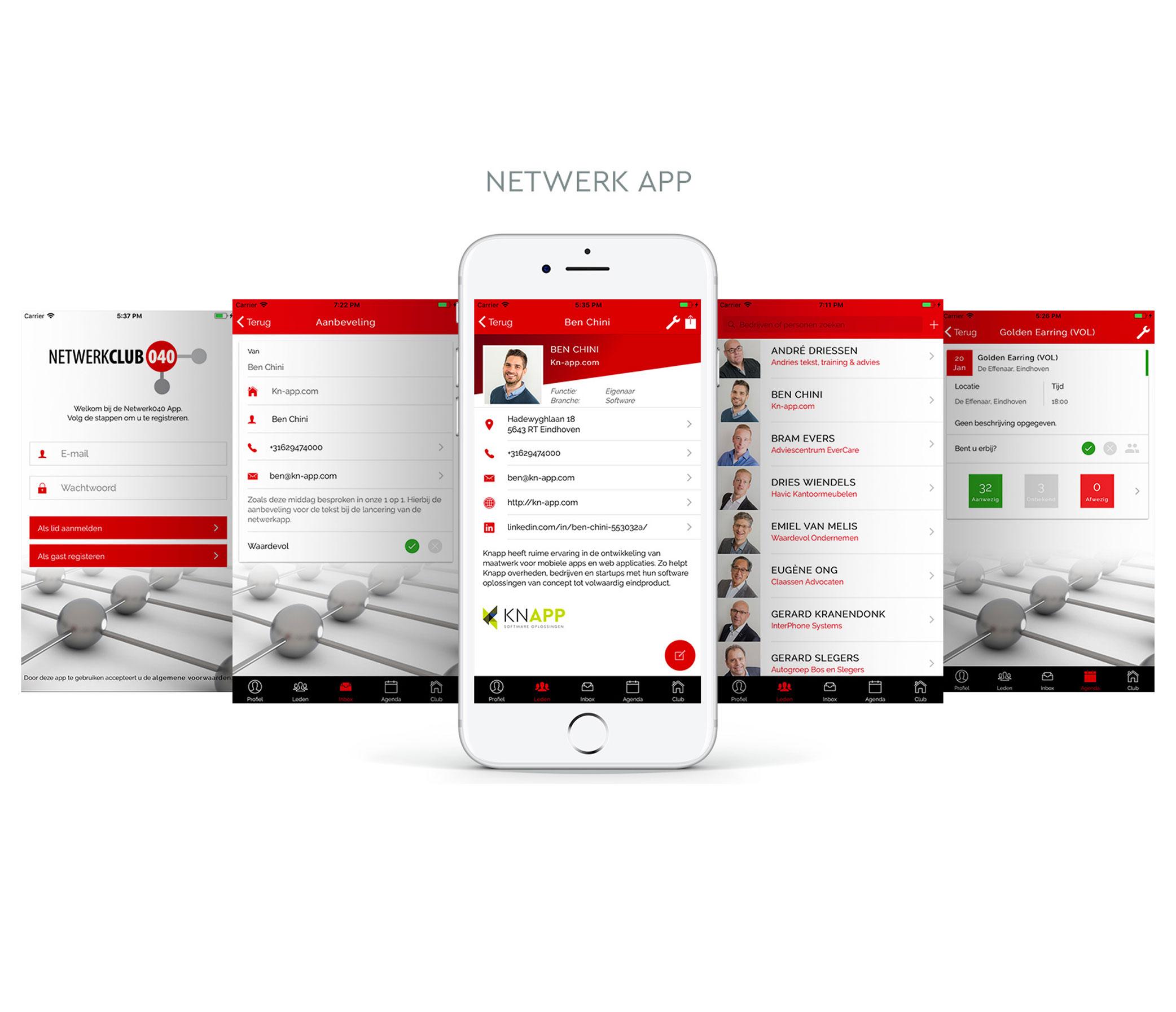 Netwerk App: KNAPP staaltje software voor Businessclubs.