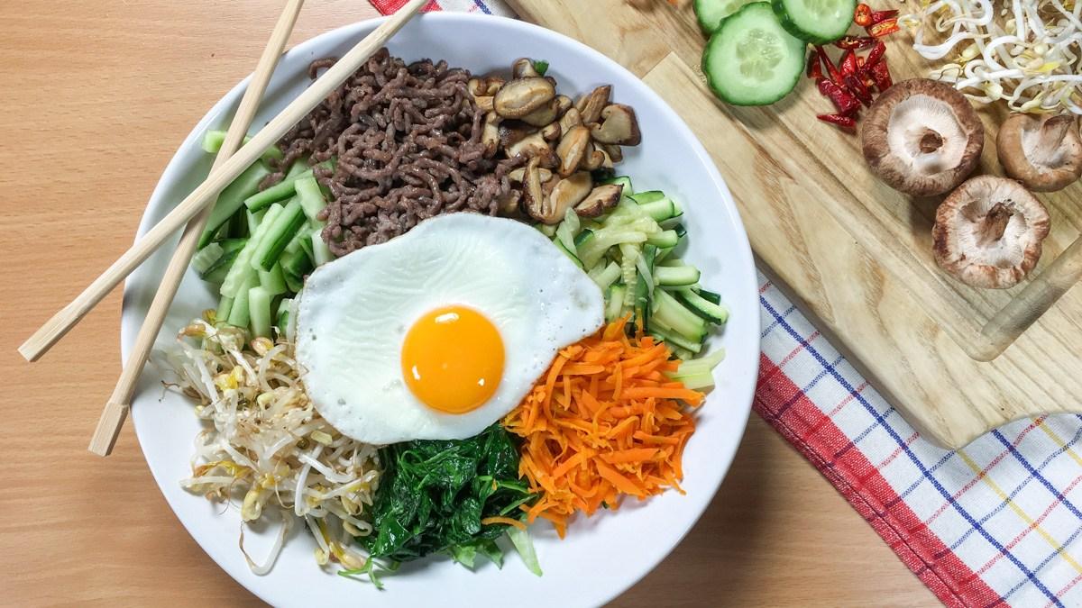 Nejen nízkosacharidový recept: Korejský bibimbap