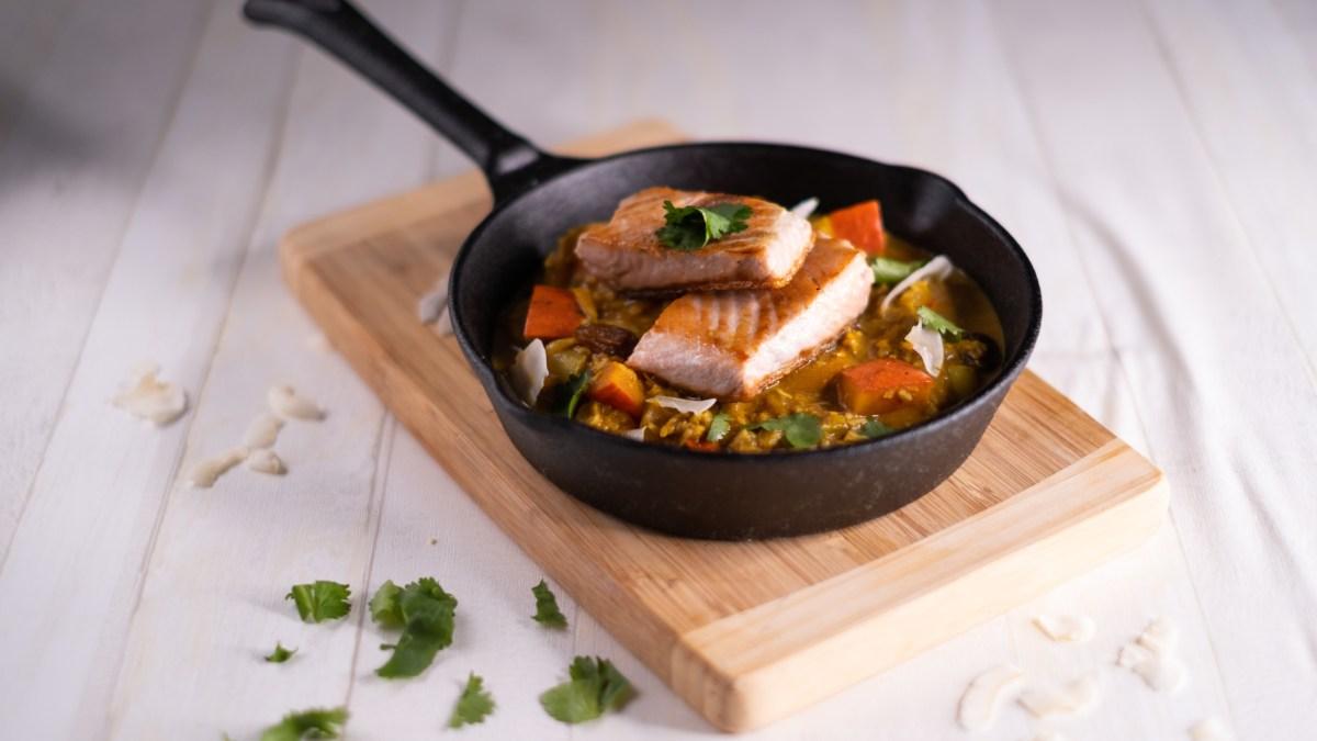 Dýňová korma s lososem – indickou kuchyní ke zdraví! #AIP, paleo, low carb recept