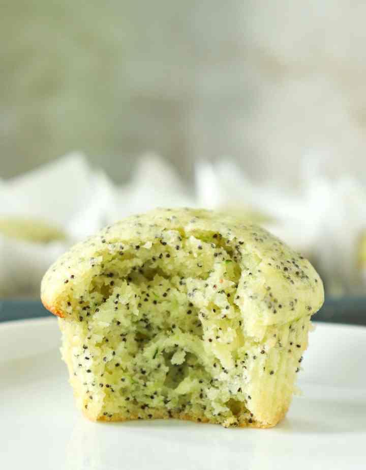 Zucchini Lemon Poppyseed Muffins