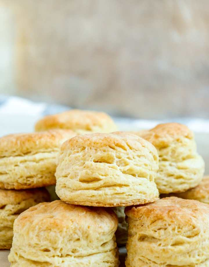 stacked buttermilk biscuits