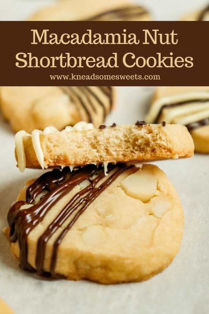 two shortbread cookies stacked