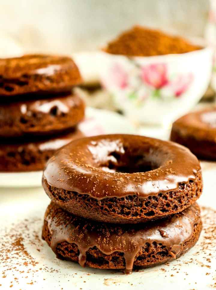 stack of glazed doughnuts