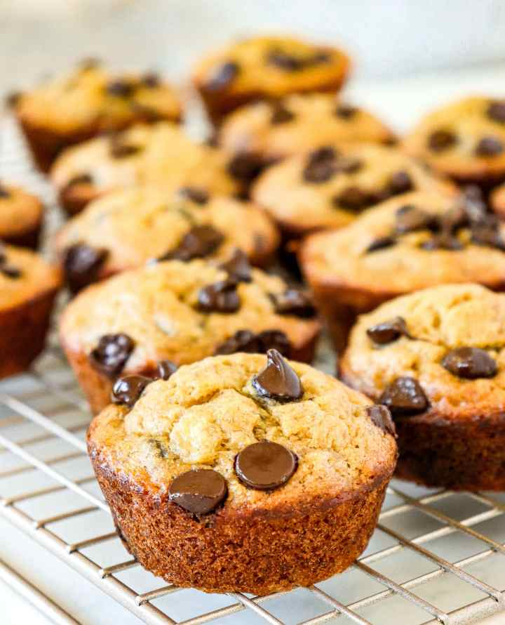 muffins on a wire rack